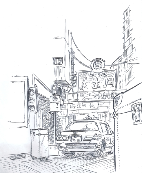 taxi sketch