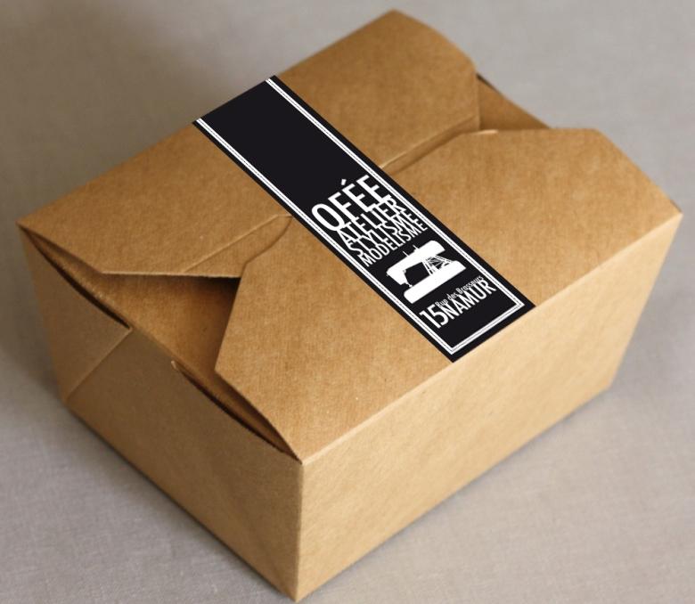 boite packagging autocollant logo 2