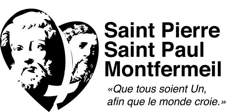 logo paroisse coeur texte N et B